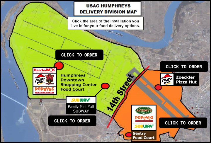 Humphreys Delivery Map